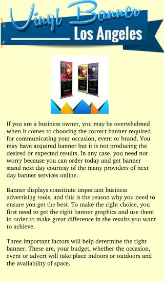 Next day banner rollers and their great impact in marketing your event