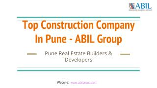 CONSTRUCTION COMPANY IN PUNE, DEVELOPERS IN PUNE