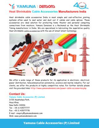 Heat Shrinkable Cable Accessories India