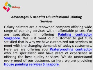 Choose the best professional painters in singapore