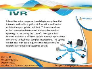 IVR service provider-P&P INFOTECH