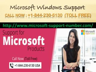 Microsoft Windows support number  1-844-230-6130 USA