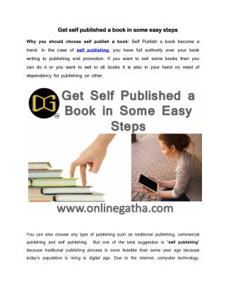 9 Easy Steps of Self Publish a Book