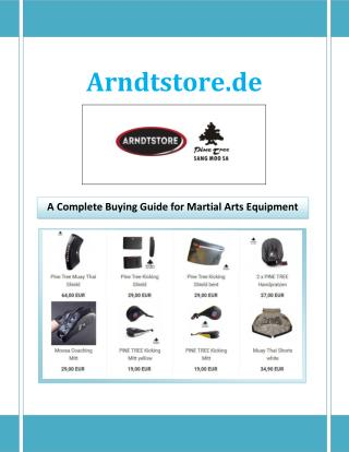 A Complete Buying Guide for Martial Arts Equipment