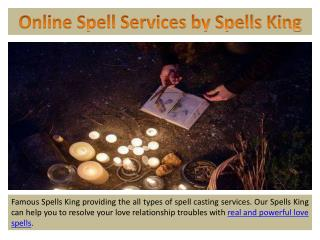 Online Spells Services by Spells King