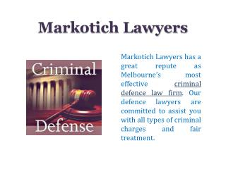 Markotich Lawyers - Law Firm in Melbourne