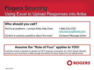 Rogers Sourcing Using Excel to Upload Responses into Ariba