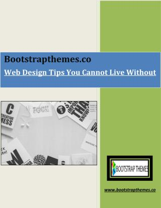 Web Design Tips You Cannot Live Without