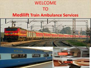Fastest Train Ambulance Services in Ranchi by Medilift