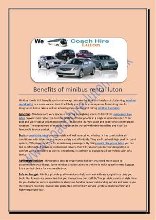 mini coach hire luton