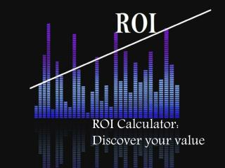 ROI Calculators to determine profitability