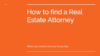 How to find a Real Estate Attorney - https://alnproperties.com/