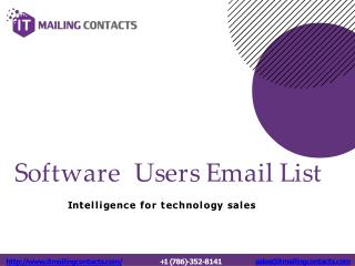 Software Customers Email Database