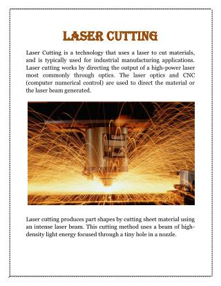 Laser Cutting -  Federal Metal Works