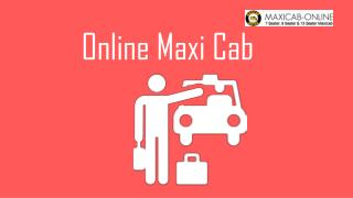 Book Maxi Cab Singapore