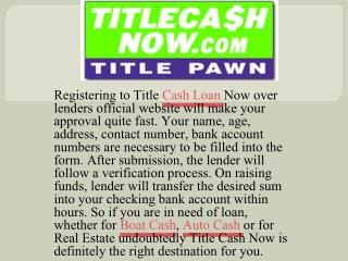 Instant approval for Boat Cash in Title Cash Now