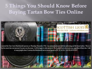 5 Things You Should Know Before Buying Tartan Bow Ties Online