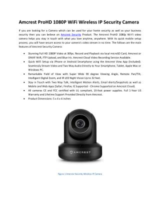 Amcrest ProHD 1080P WiFi Wireless IP Security Camera