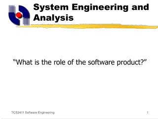 System Engineering and Analysis
