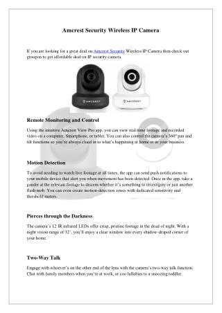 Amcrest Security Wireless IP Camera