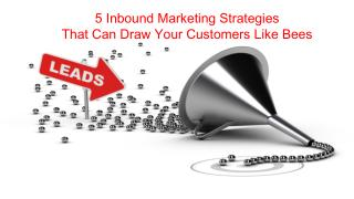 5 inbound marketing strategies that can draw your customers like bees