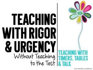 Teaching with Urgency Without Teaching to the Test