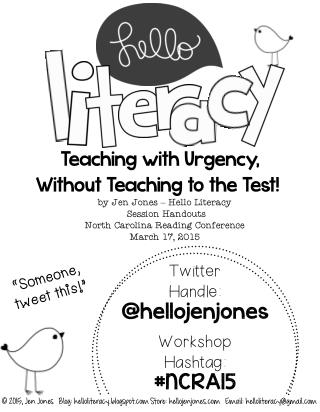 Teaching With Urgency Without Teaching to the Test Handouts