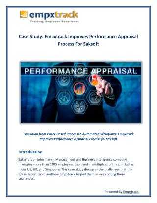 Case Study: Empxtrack Improves Performance Appraisal Process for Saksoft