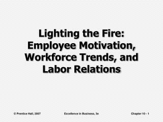 Lighting the Fire: Employee Motivation, Workforce Trends, and Labor Relations