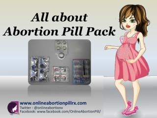 All about Abortion Pill Pack