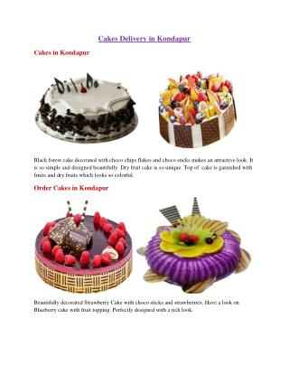 Cakes Delivery in Kondapur, Order Cakes in Kondapur - Bestbake.in