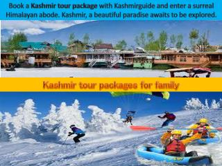 Kashmir family holiday packages