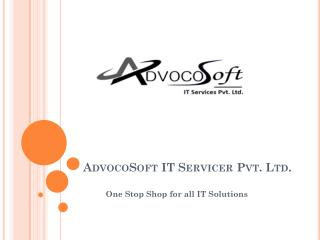 Choose Best Web Development Company in Jaipur and Noida India | Advocosoft IT Services Pvt Ltd