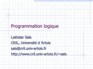 Programmation logique