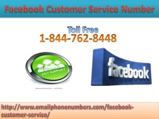 Facebook Customer care Number – A Way to Resolution 1-844-762-8448