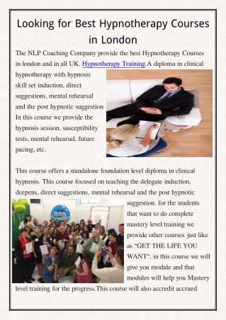 Hypnotherapy Courses
