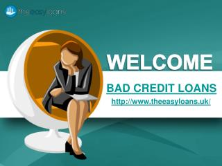 Bespoke Deals on Bad Credit Loans