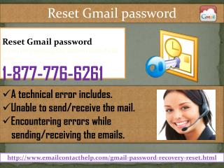 Reset Gmail password @1-877-776-6261 Is Your Next-door Help