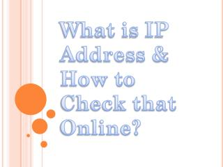 Complete Information About IP Address