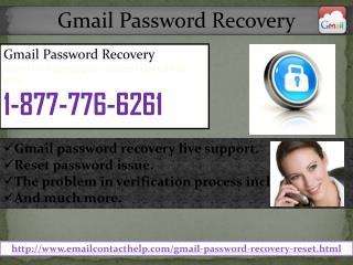 Gmail Password Recovery @1-877-776-6261: Non-Stop Assistance
