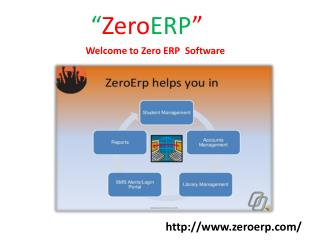 ZeroERP Softwarew for College & Schools