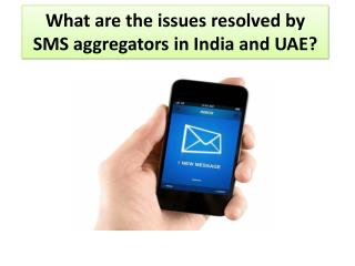 What are the issues resolved by SMS aggregators in India and UAE?