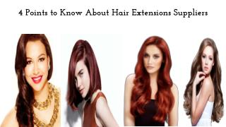 4 Points to Know About Hair Extensions Suppliers