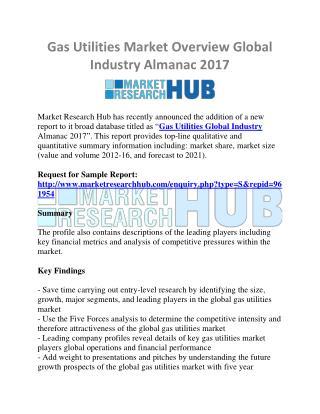 Gas Utilities Market Overview Global Industry Almanac 2017
