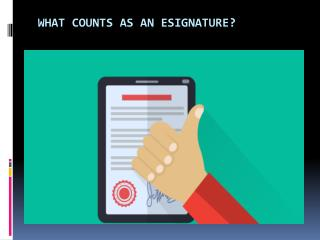 What Counts As An Esignature?