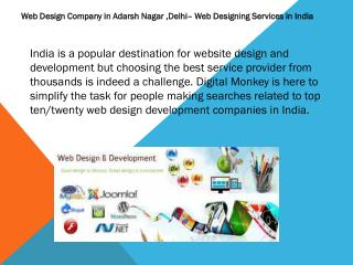 Web Design Company in Adarsh Nagar ,Delhi– Web Designing   Services in India