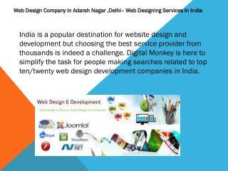 Web Design Company in Adarsh Nagar ,Delhi– Web Designing   Services in India