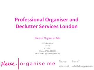 Professional Organiser London