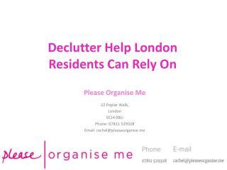 Declutter Help London
