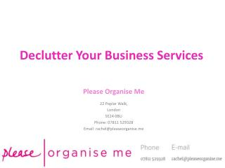 Declutter Your Business Service